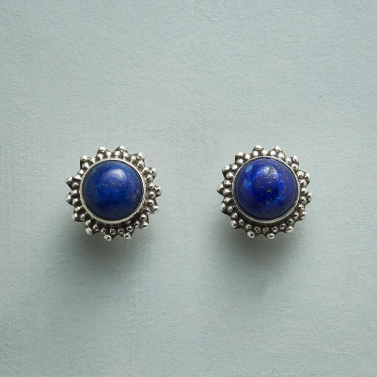 LAPIS DOME EARRINGS