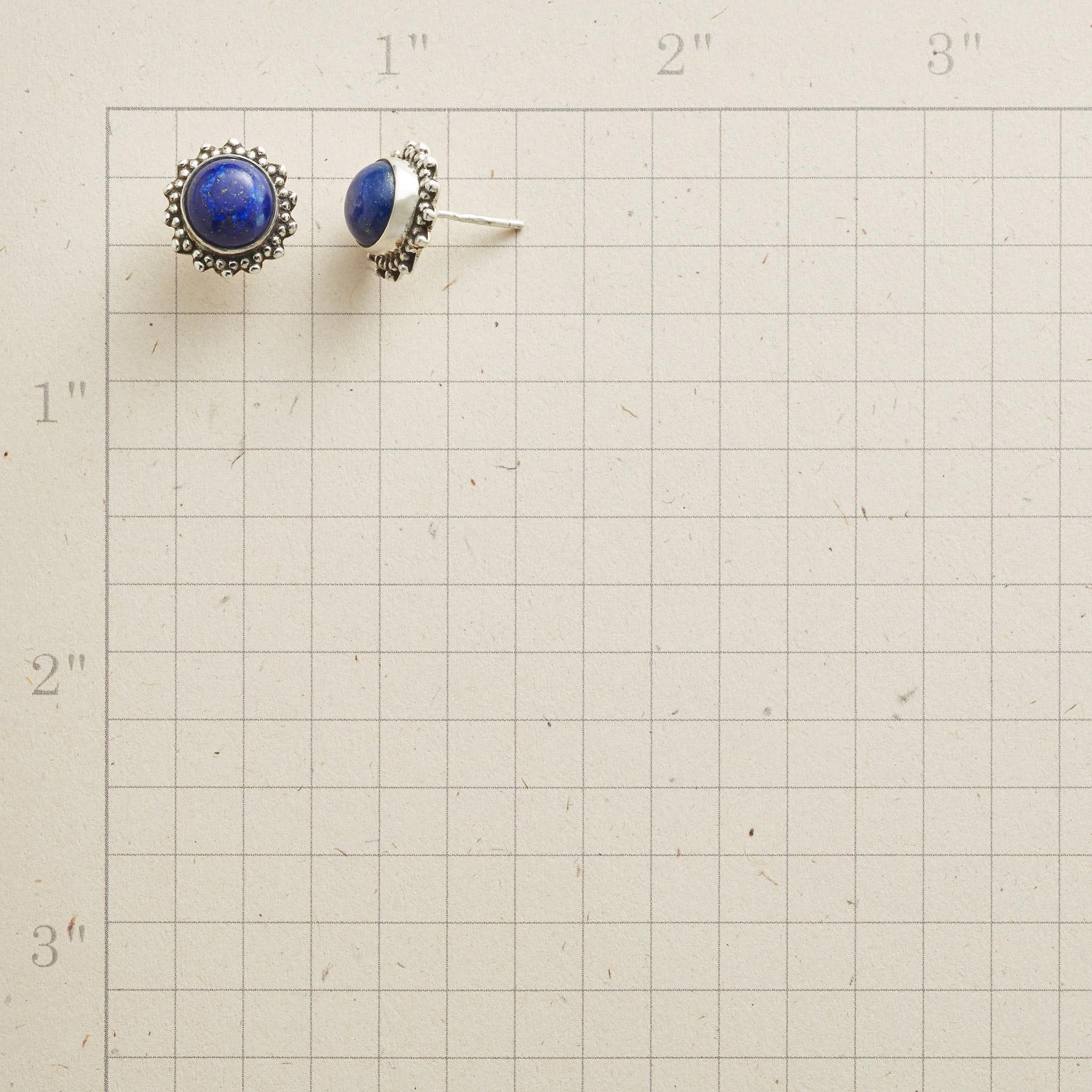 LAPIS DOME EARRINGS: View 2