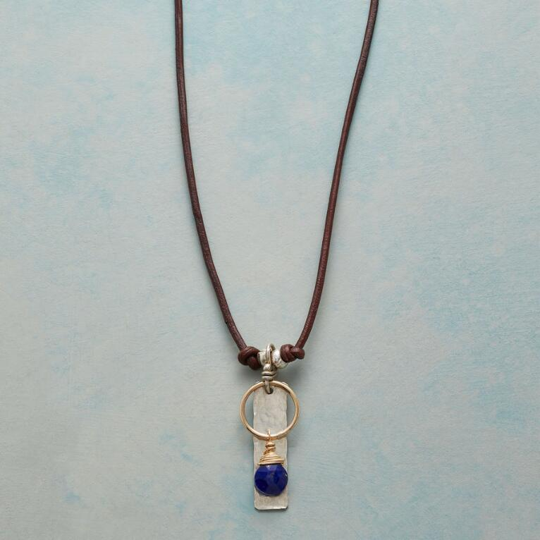 CENTERED IN BLUE NECKLACE