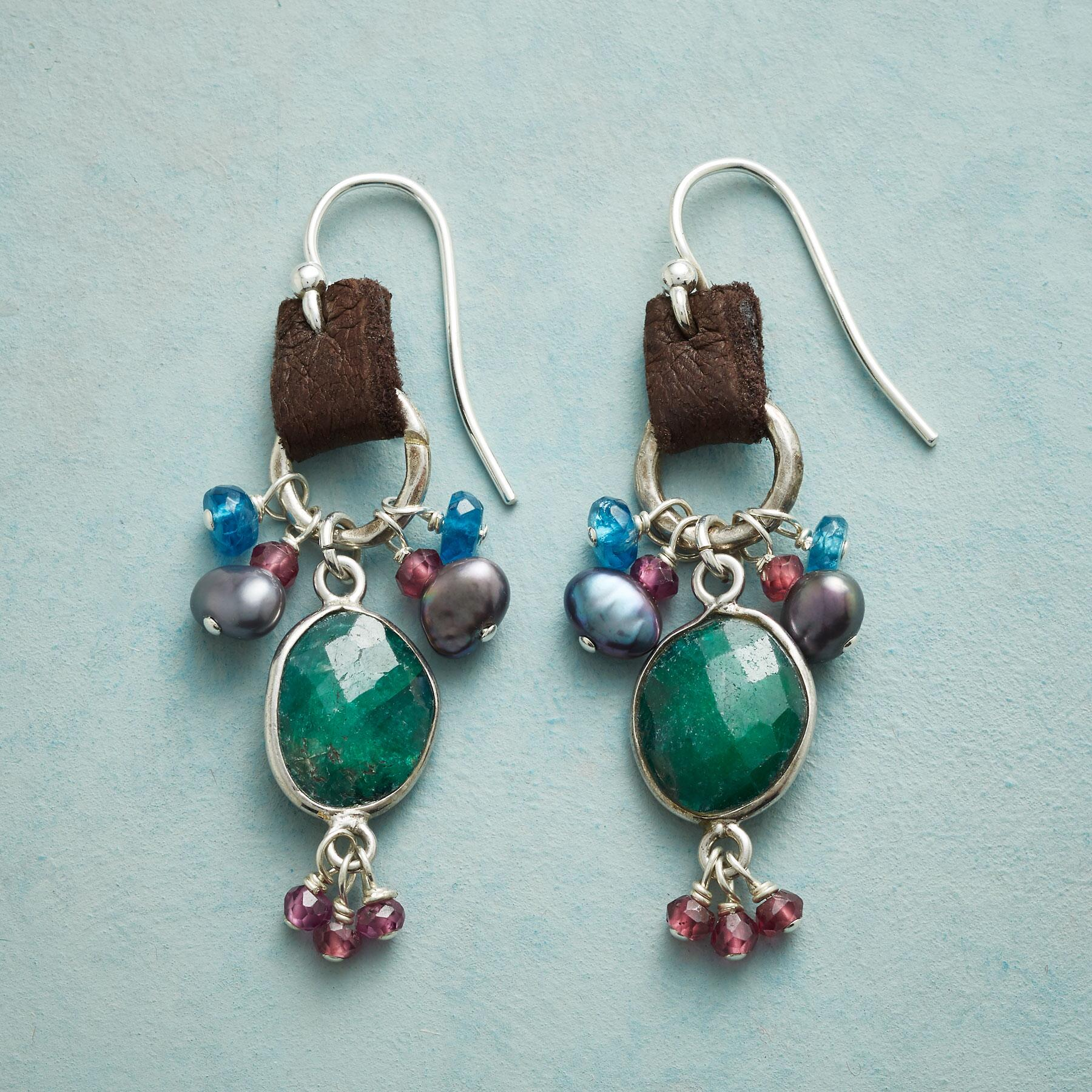 EMERALD AND MORE EARRINGS: View 1