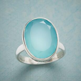 CHALCEDONY CUTOUT RING