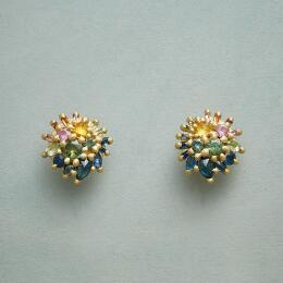 SAPPHIRE SUNBURST EARRINGS