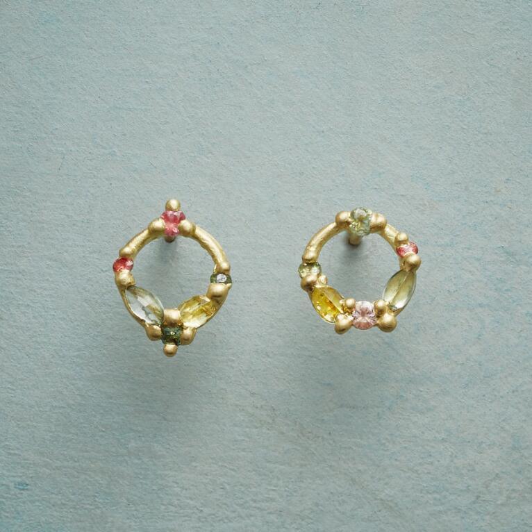 SAPPHIRE CIRCLE EARRINGS