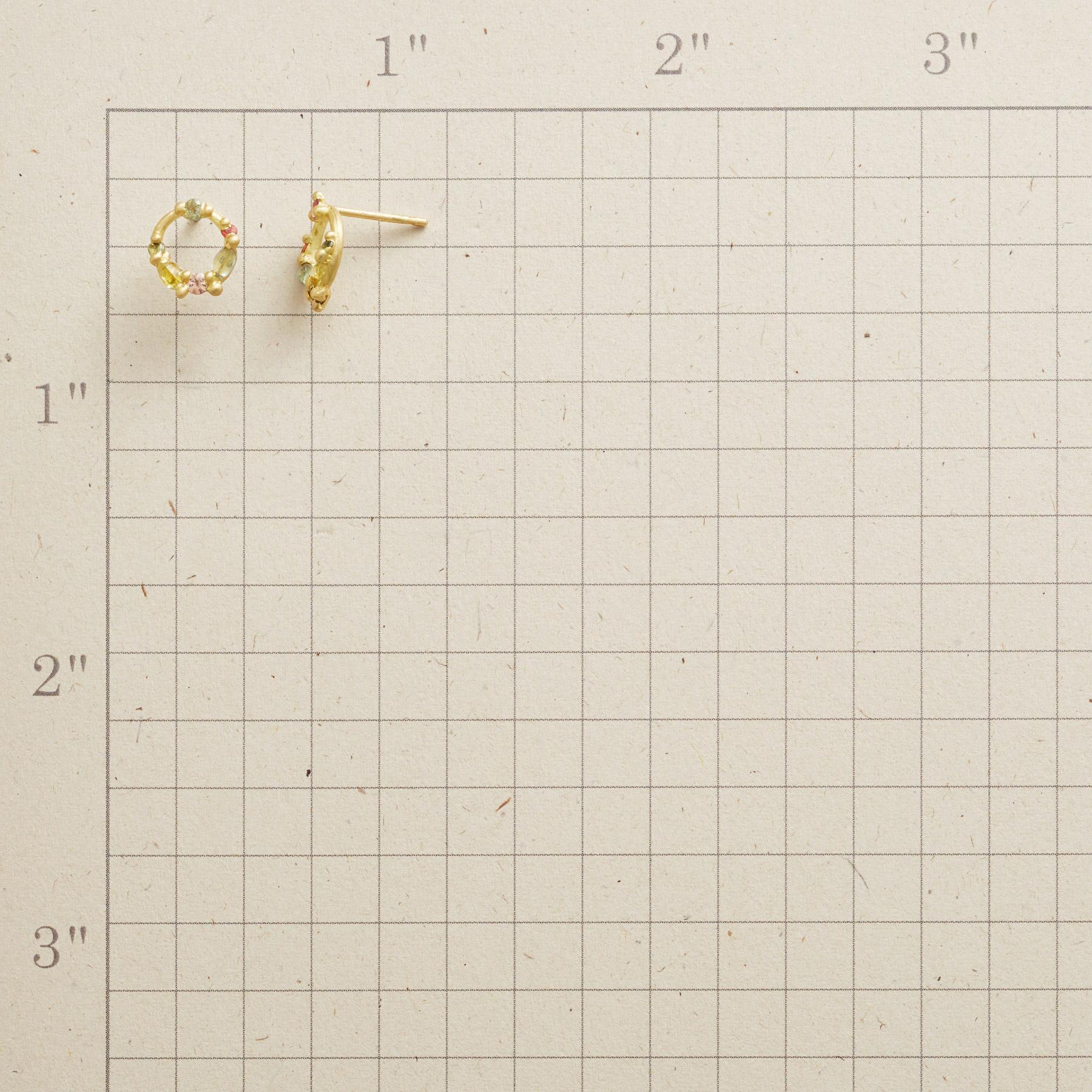 SAPPHIRE CIRCLE EARRINGS: View 2