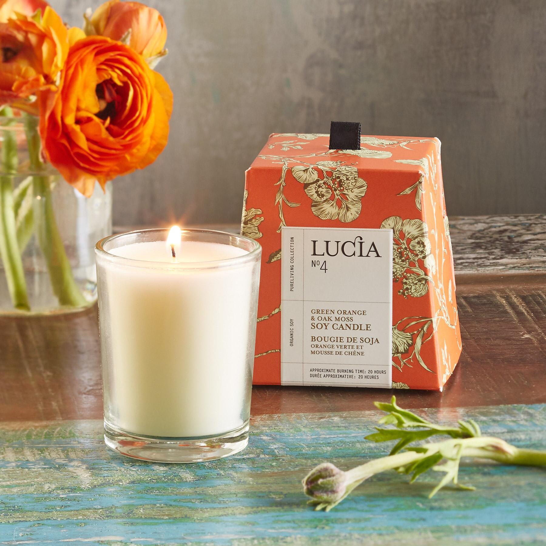 LUCIA NO 4 ORANGE & MOSS CANDLE: View 1