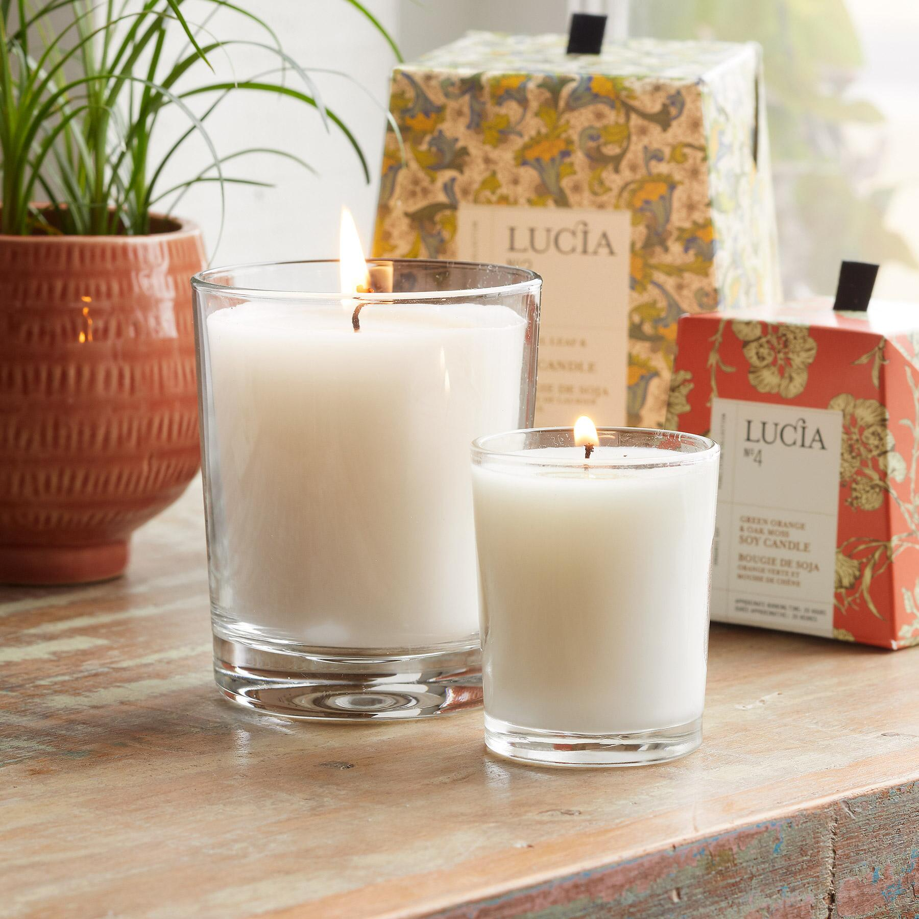 LUCIA NO 4 ORANGE & MOSS CANDLE: View 2