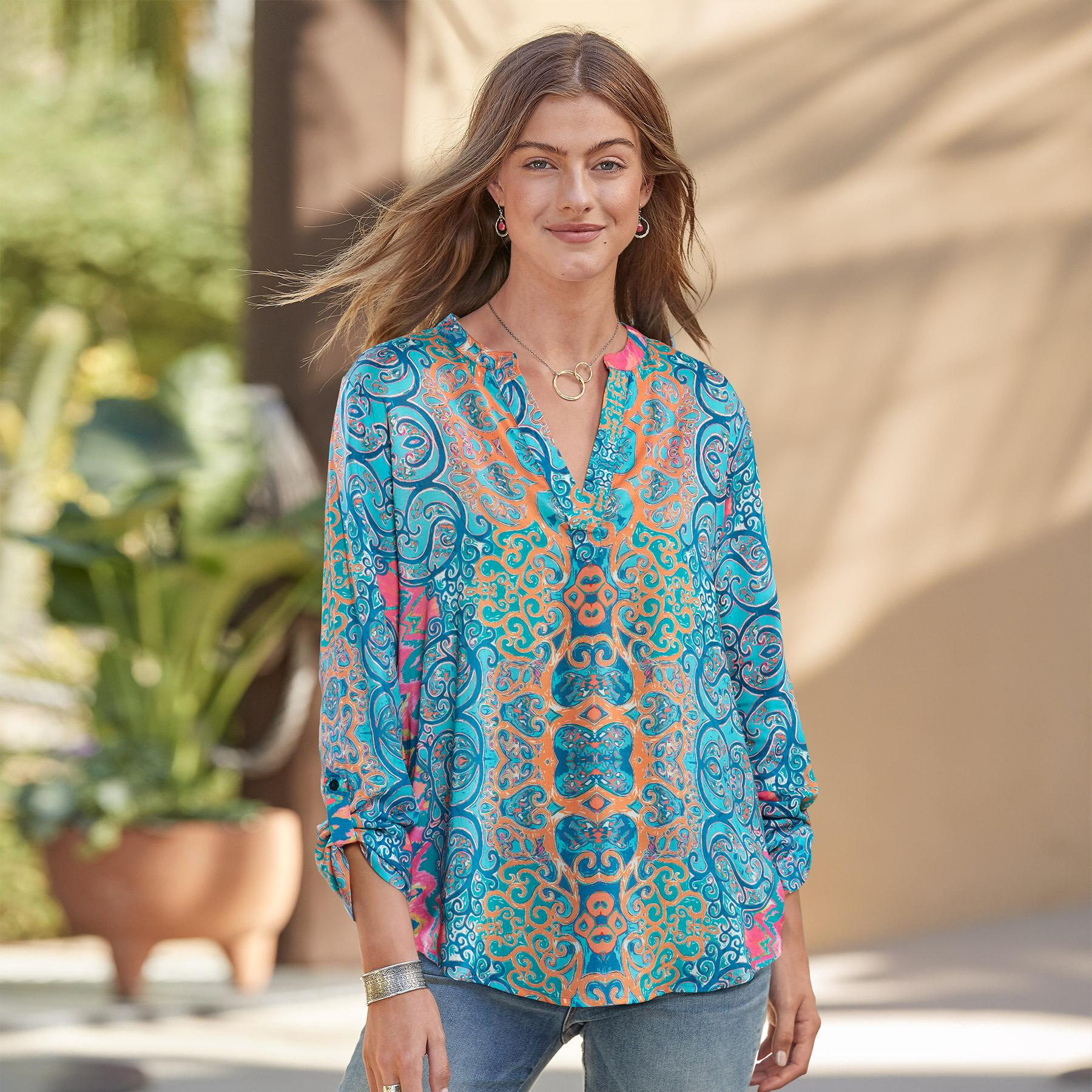 MOROCCAN BREEZE TUNIC: View 1