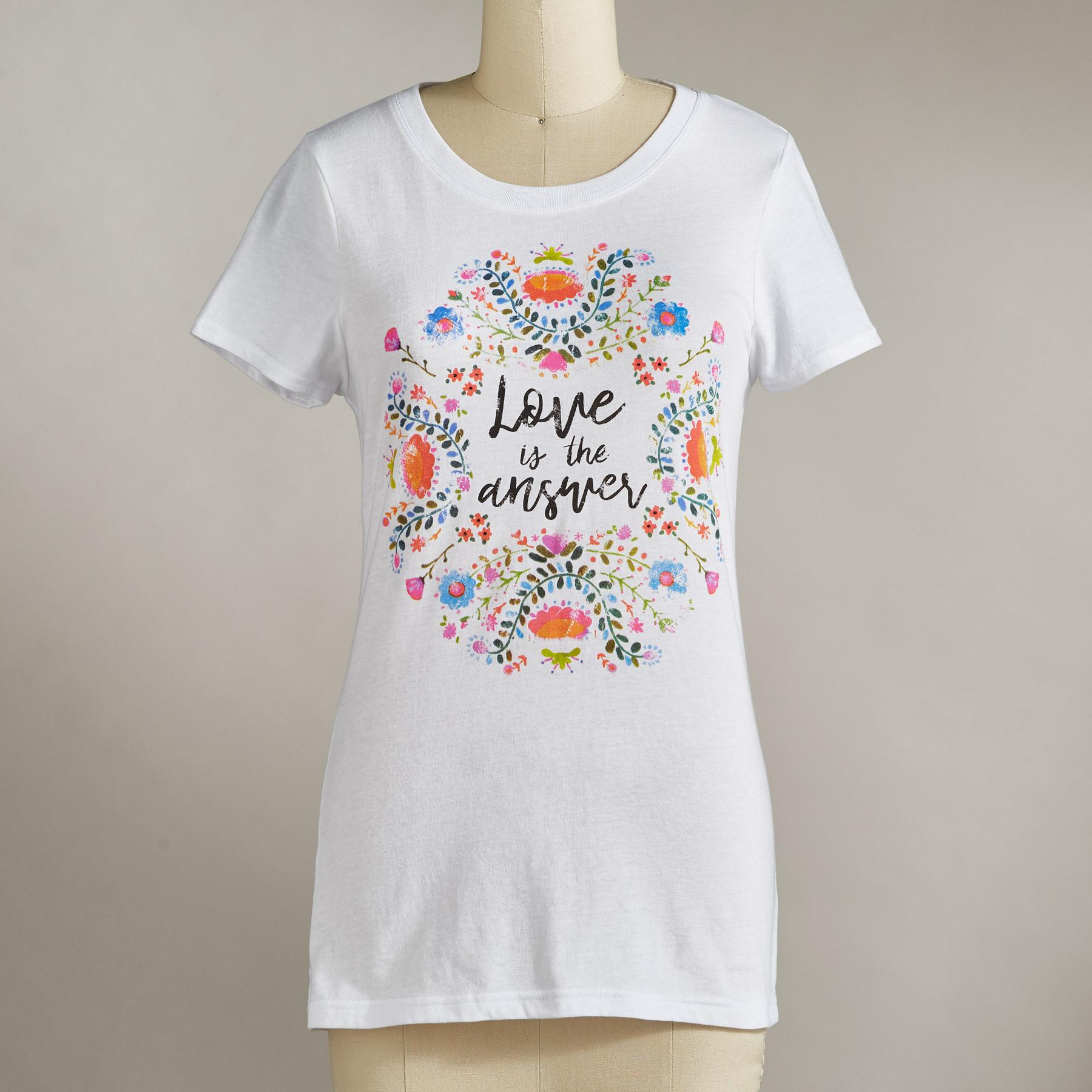 LOVE IS THE ANSWER TEE: View 2