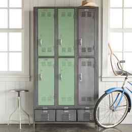 VINTAGE 6 DOOR LOCKER