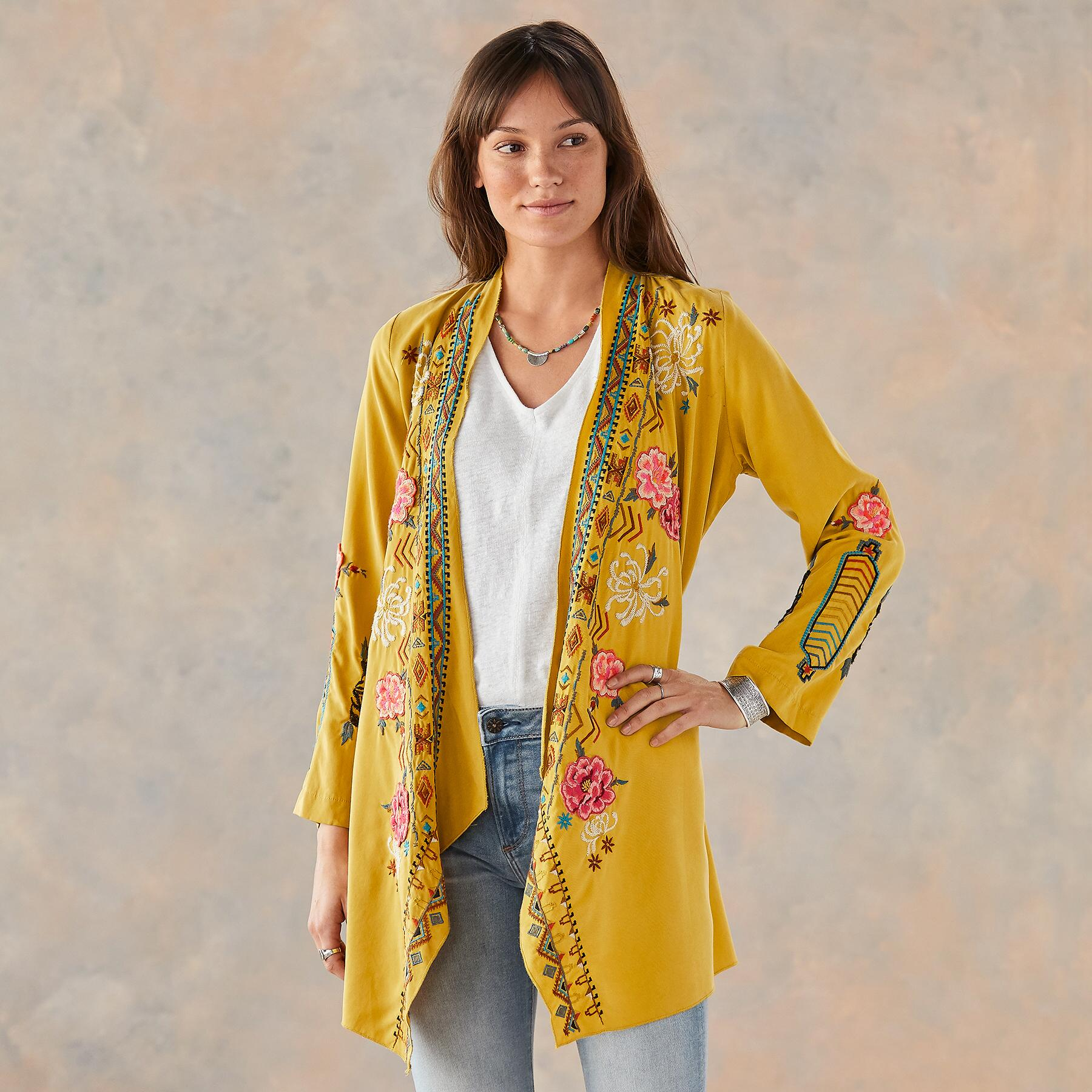 ABBY EMBROIDERED ROBE: View 2