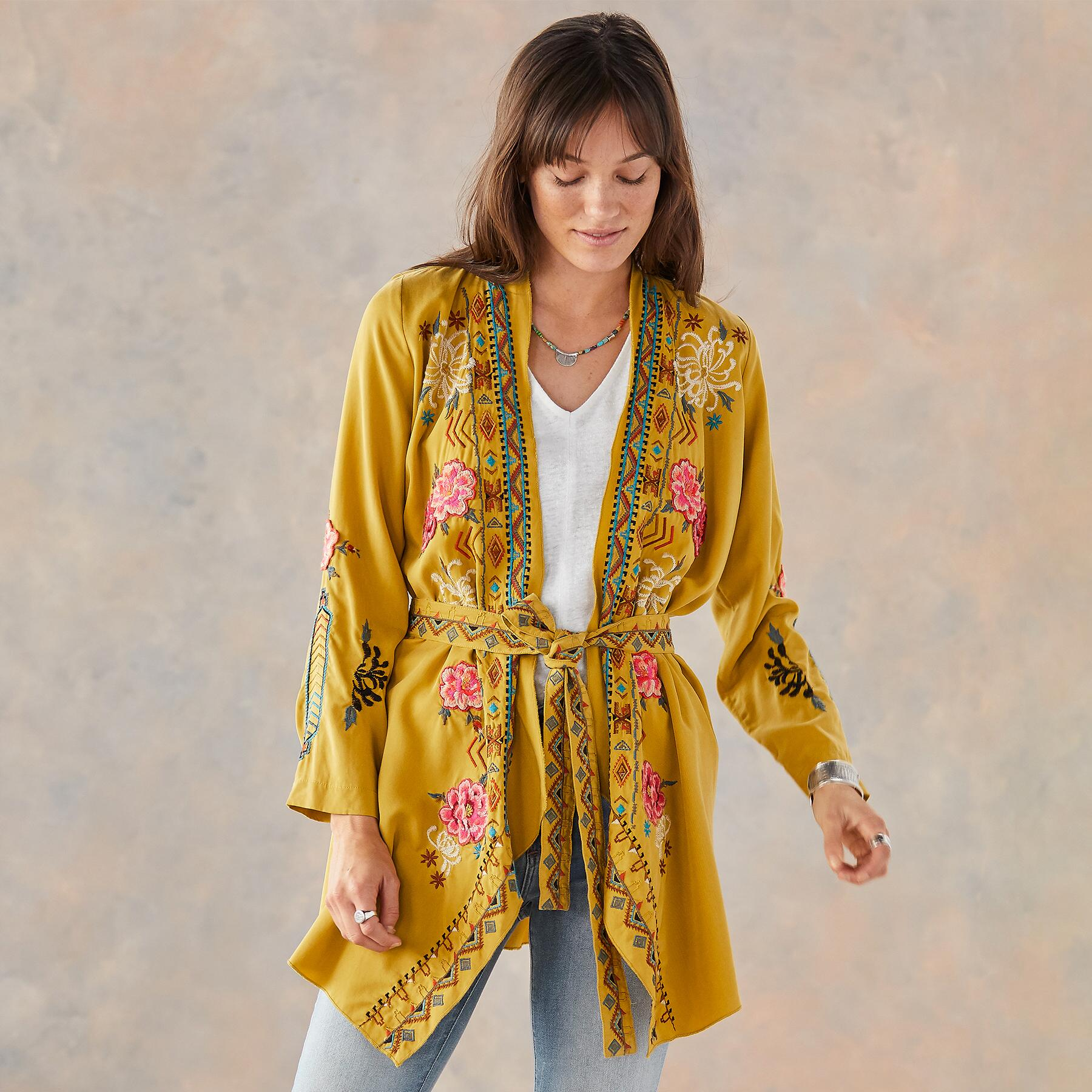 ABBY EMBROIDERED ROBE: View 3