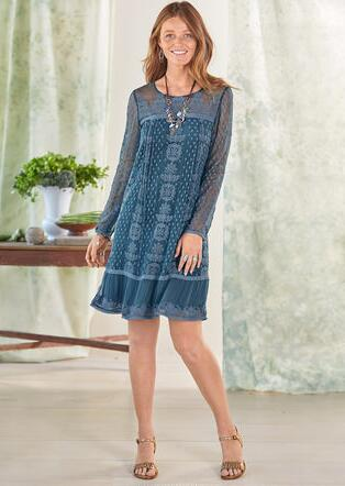 SHELBY EMBROIDERED DRESS - PETITES