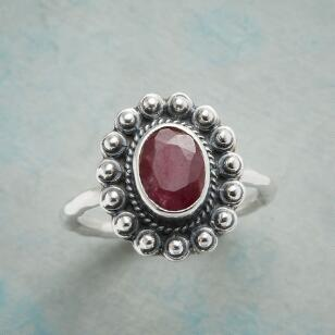 FRAMED RUBY RING