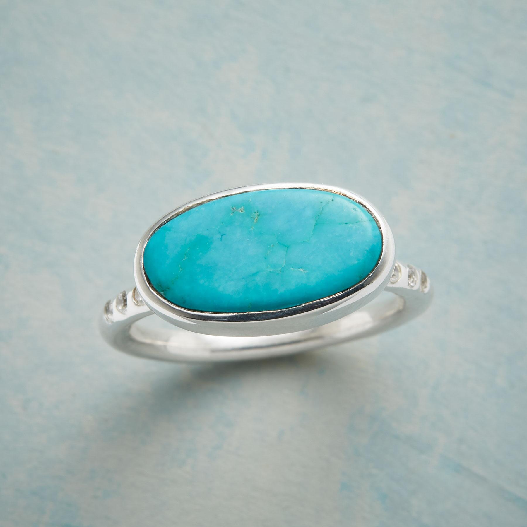 TURQUOISE PLATTER RING: View 1