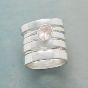 SOLE ROSE STACKING RING, SET OF 6