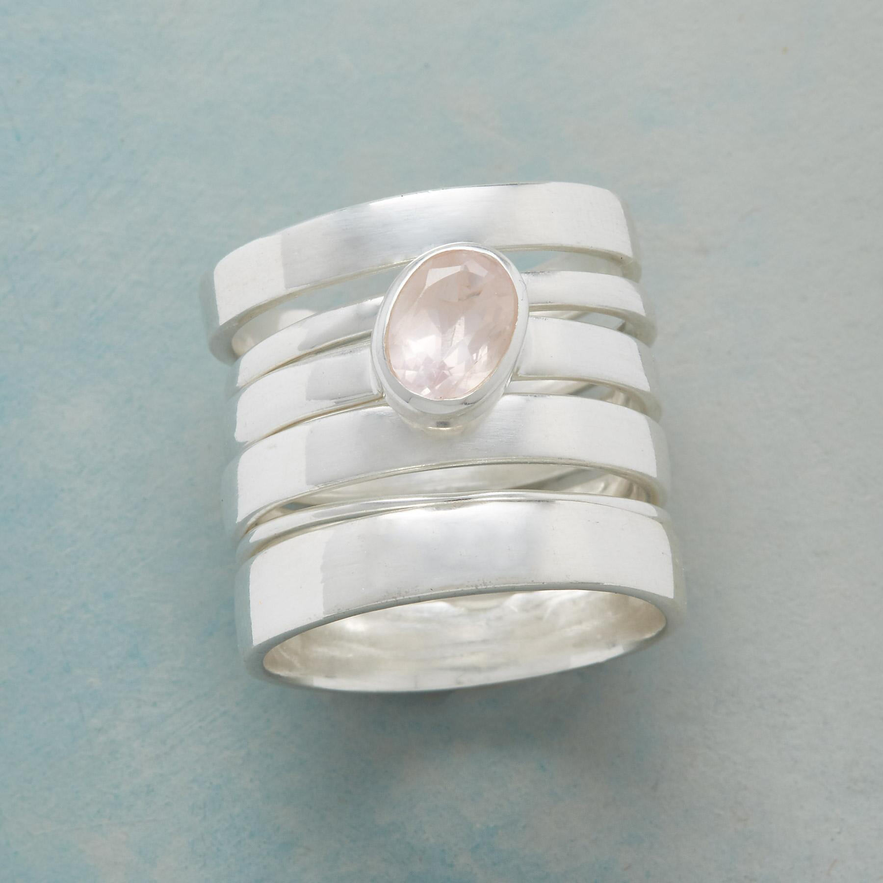 SOLE ROSE STACKING RING, SET OF 6: View 1