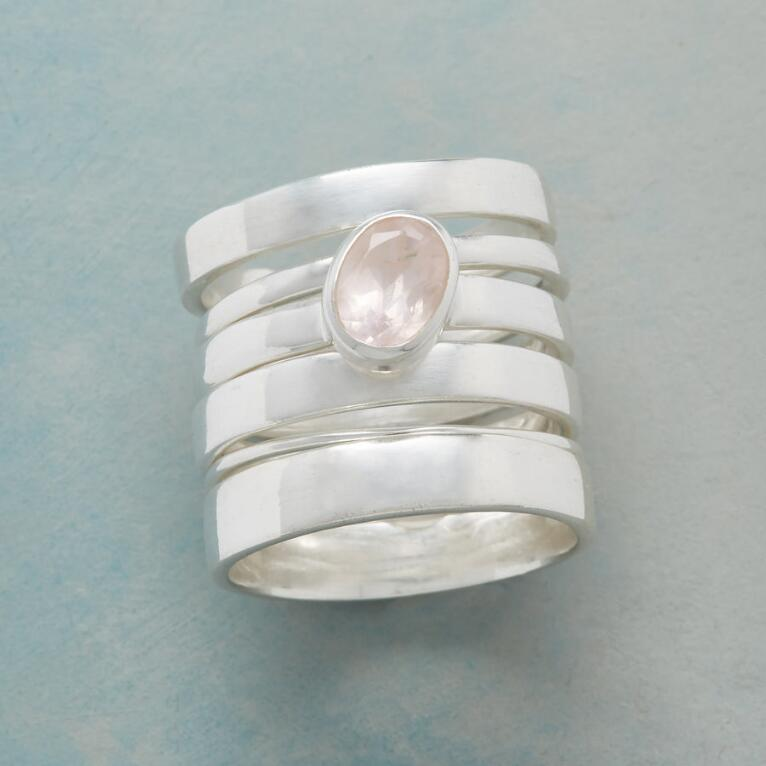 SOLE ROSE STACKING RING, SET OF 6