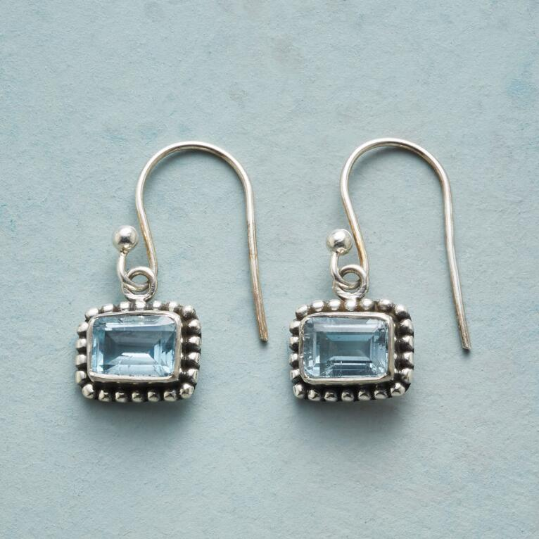 BLOCK OF BLUE EARRINGS