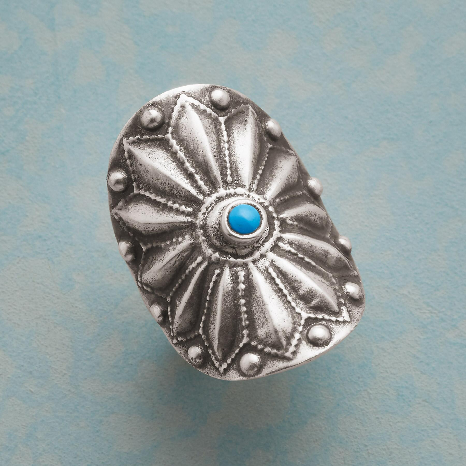 TURQUOISE SUNBURST RING: View 1
