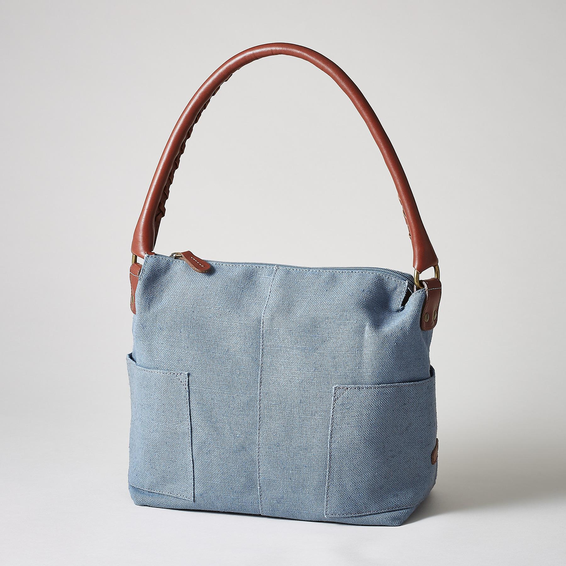 LINEN SIMPLICITY SLOUCH BAG: View 1