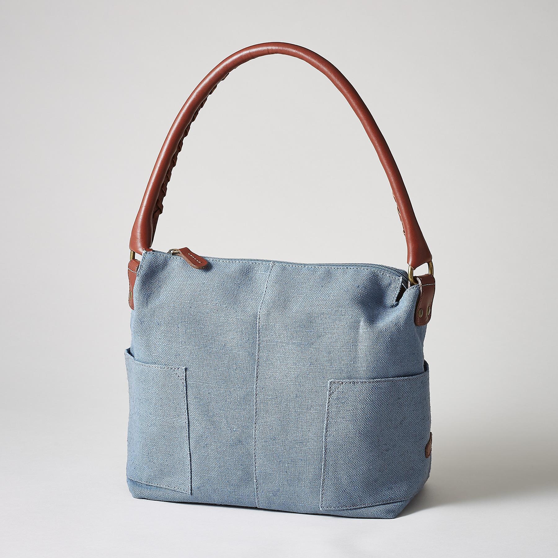 SIMPLICITY SLOUCH LINEN BAG: View 1