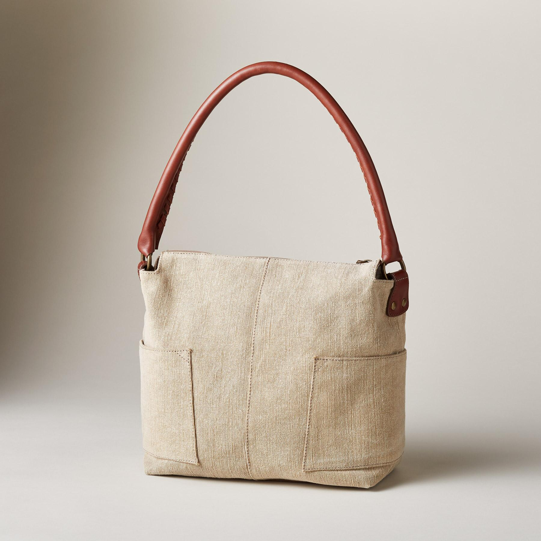 LINEN SIMPLICITY SLOUCH BAG: View 2