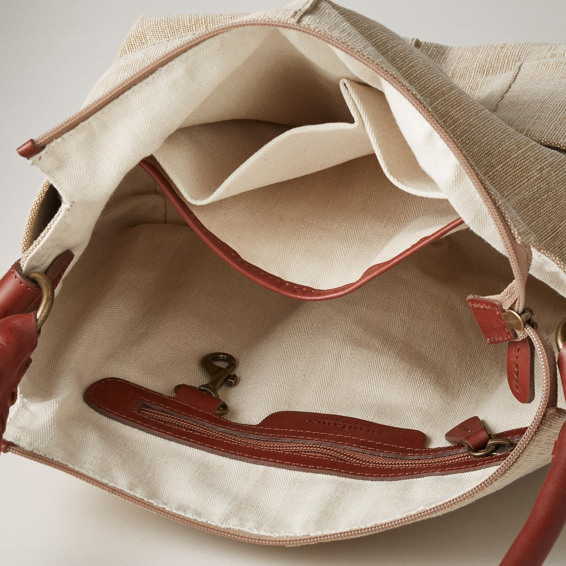 LINEN SIMPLICITY SLOUCH BAG: View 3
