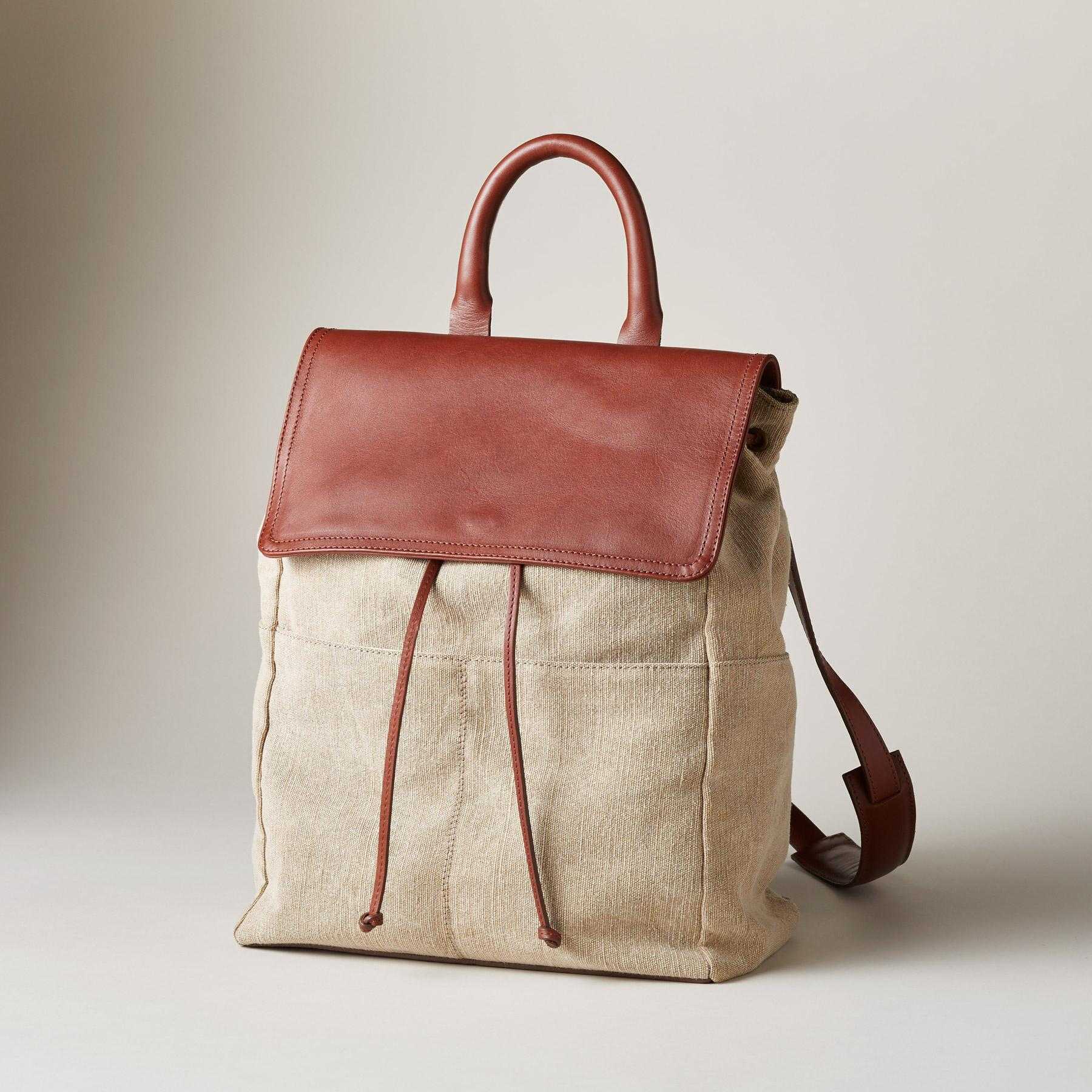 LINEN SIMPLICITY BACKPACK: View 1