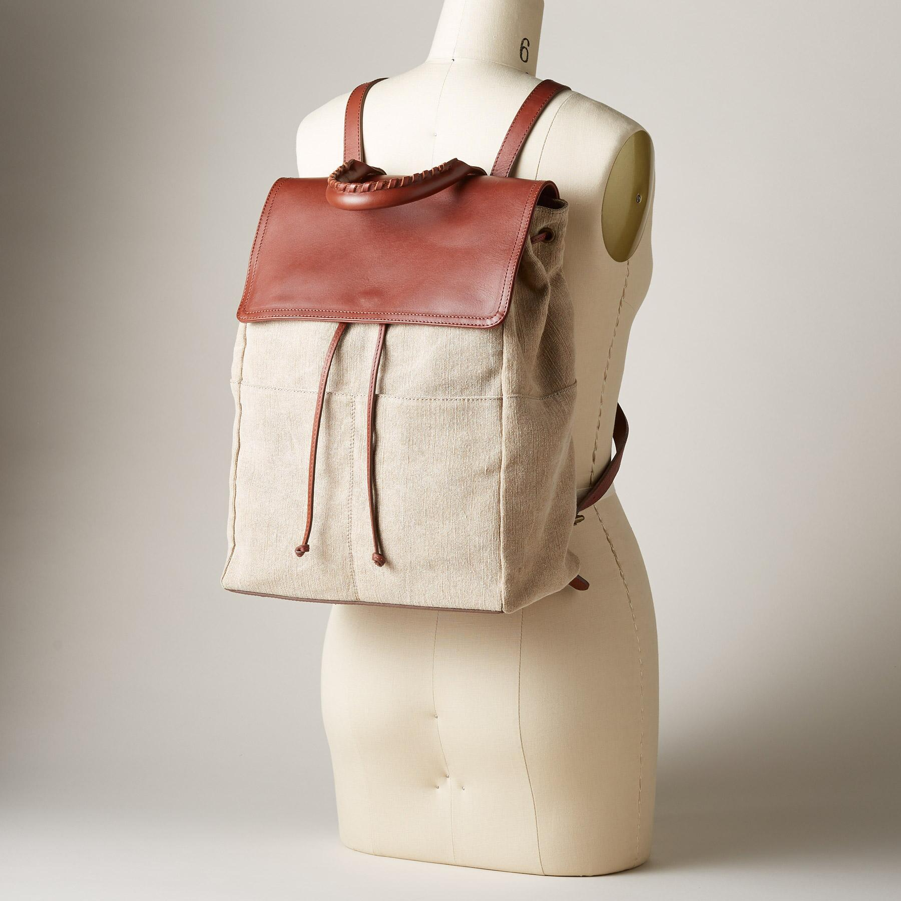 LINEN SIMPLICITY BACKPACK: View 4