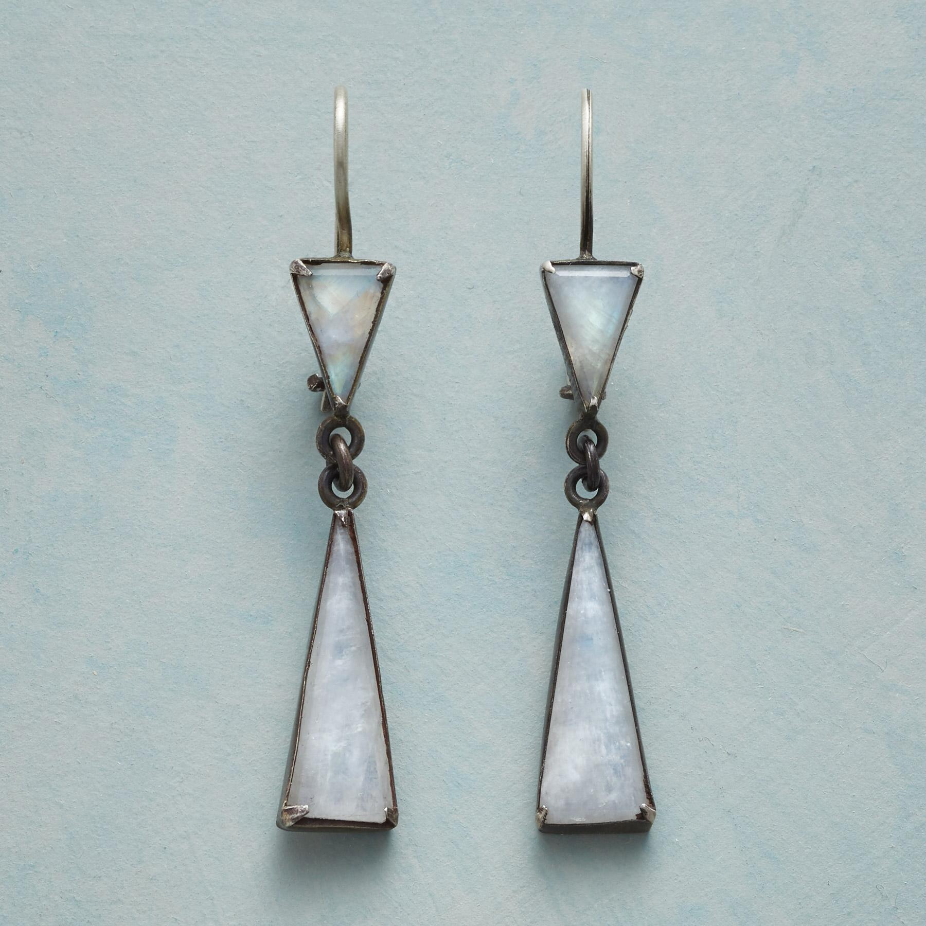 MODERN MOONSTONE EARRINGS: View 1