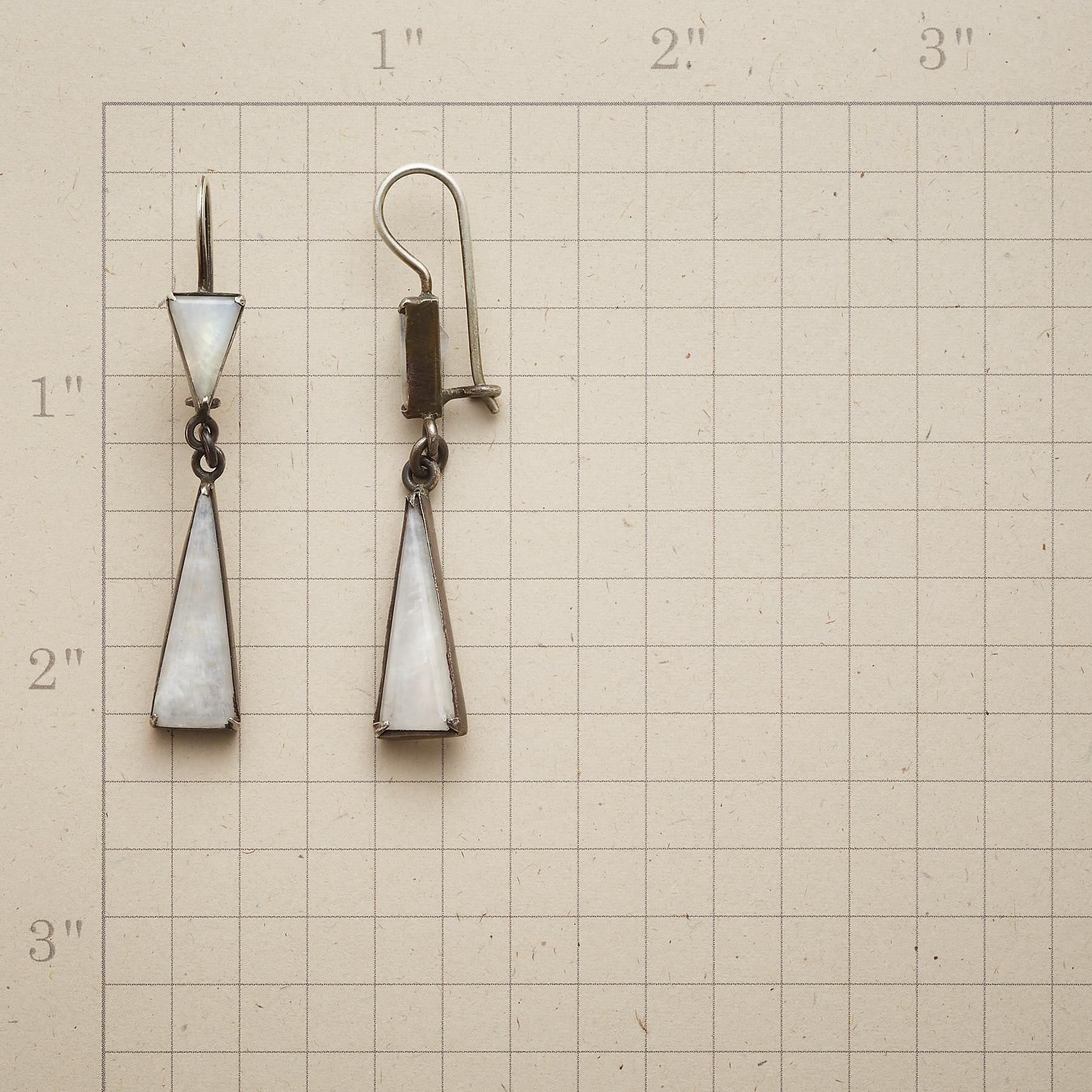 MODERN MOONSTONE EARRINGS: View 2