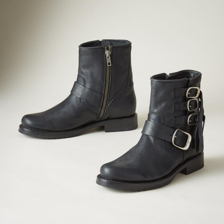 VERONICA STRAP SHORT BOOTS