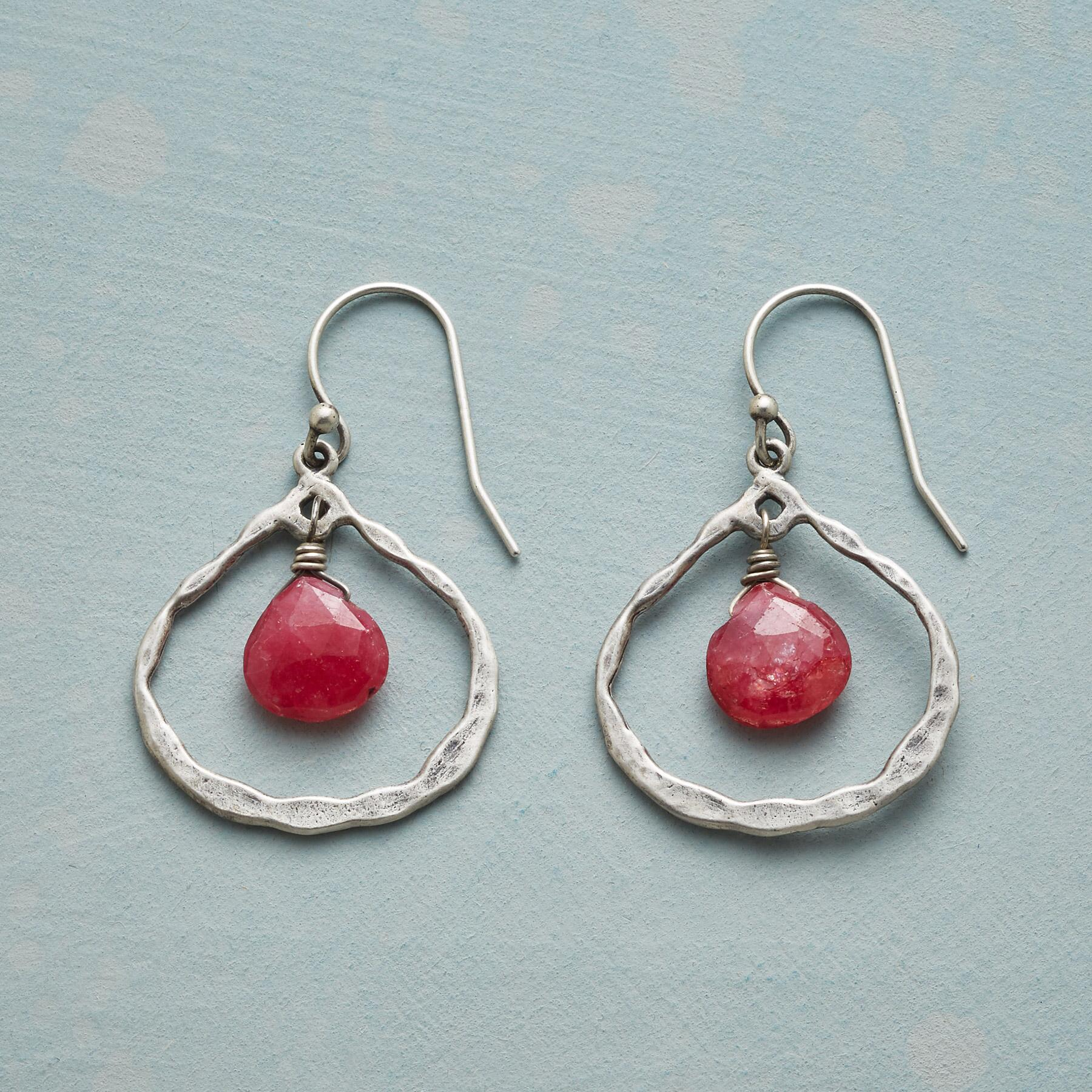 RUBY IN THE MIDDLE EARRINGS: View 1