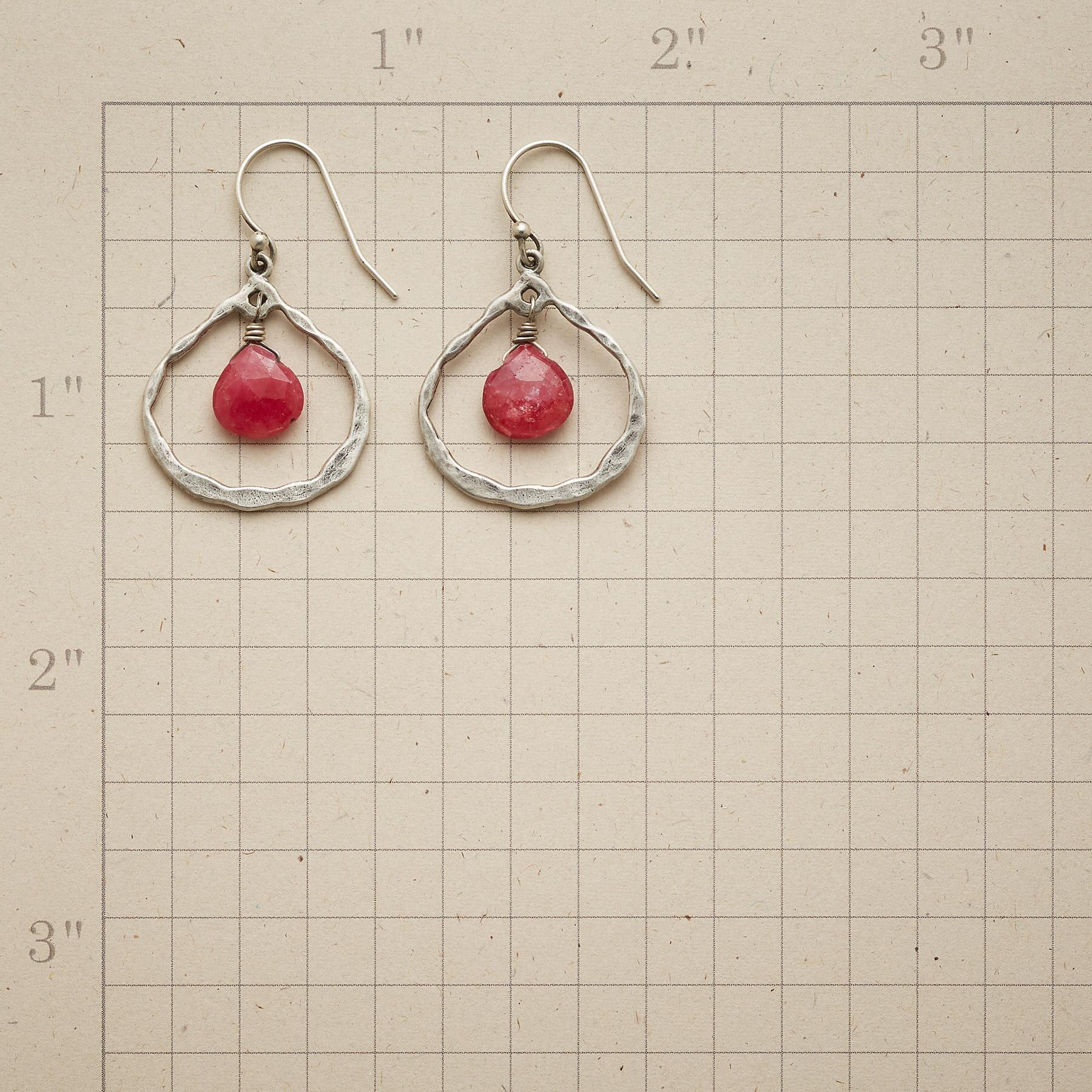 RUBY IN THE MIDDLE EARRINGS: View 2
