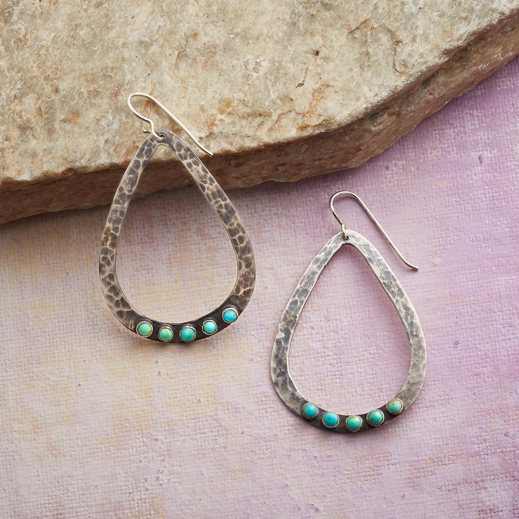 TURQUOISE DROPS EARRINGS: View 1