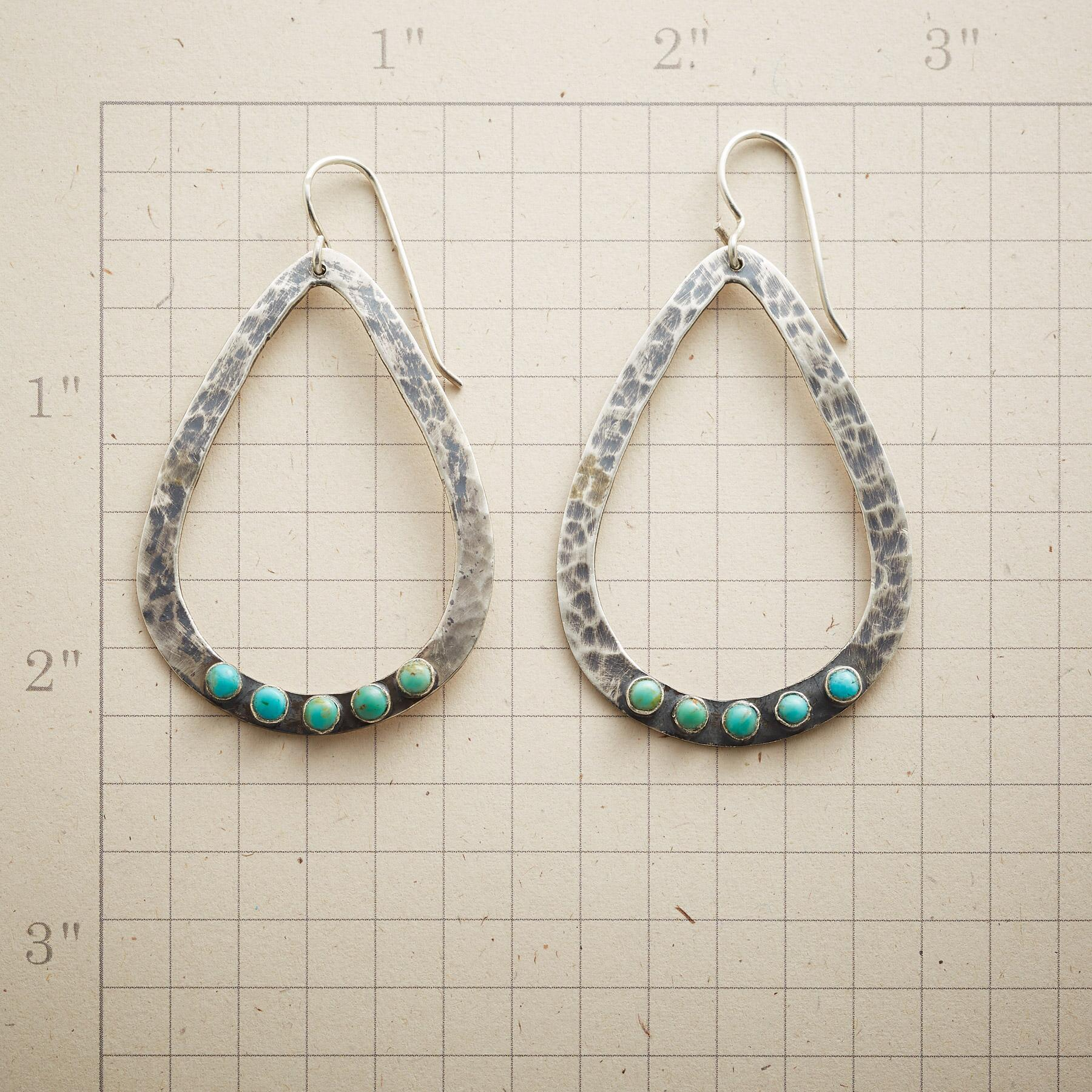 TURQUOISE DROPS EARRINGS: View 2