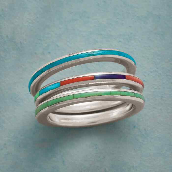 DESERT PALETTE STACKING RINGS, SET OF 3