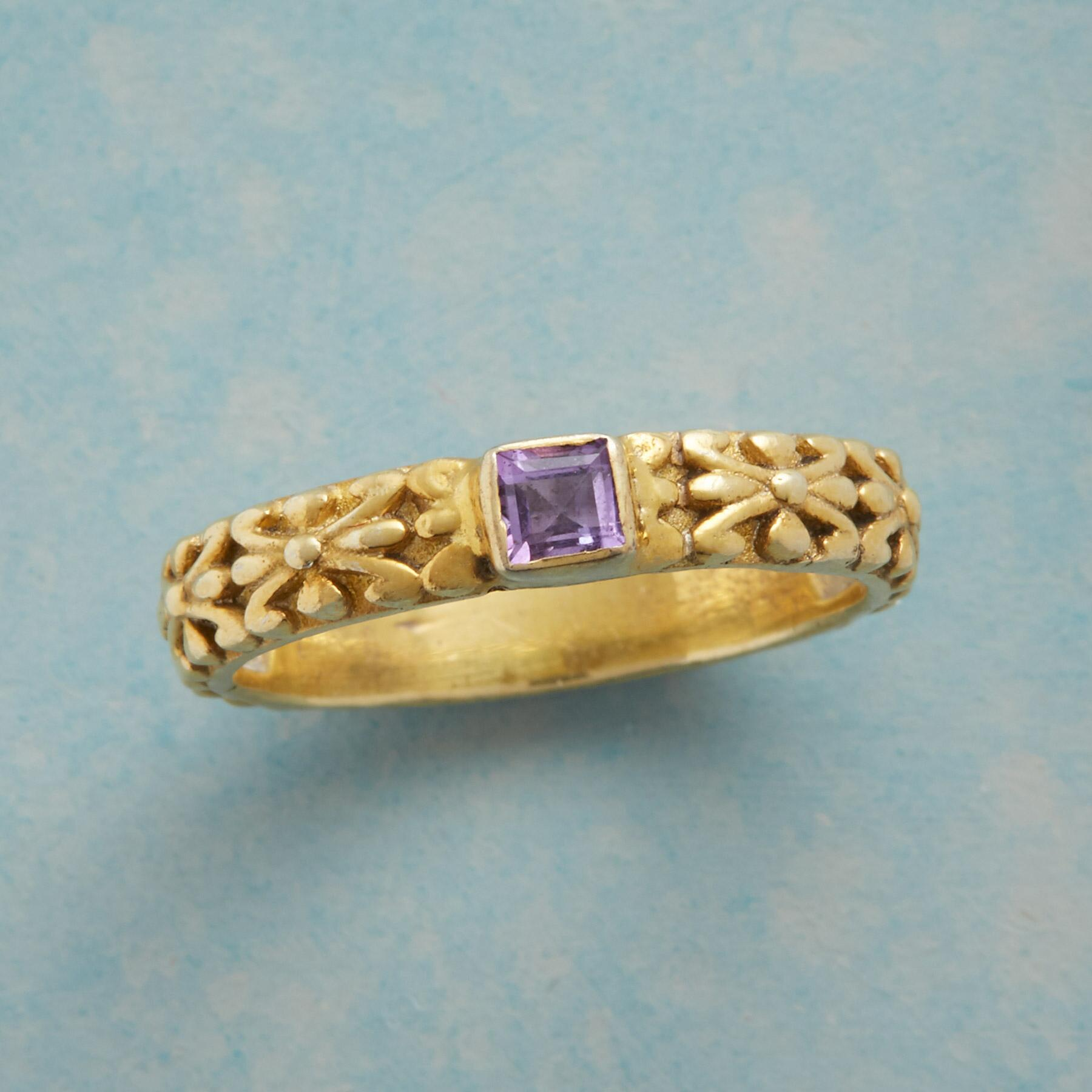 LAVISH LAVENDER RING: View 1