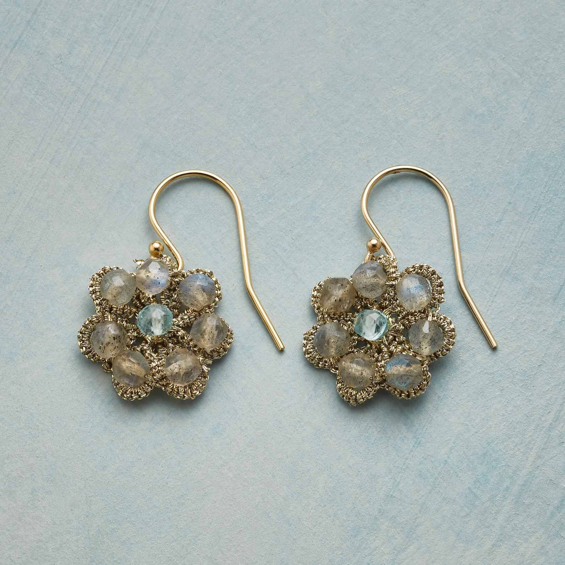 PURLED PETALS EARRINGS: View 1