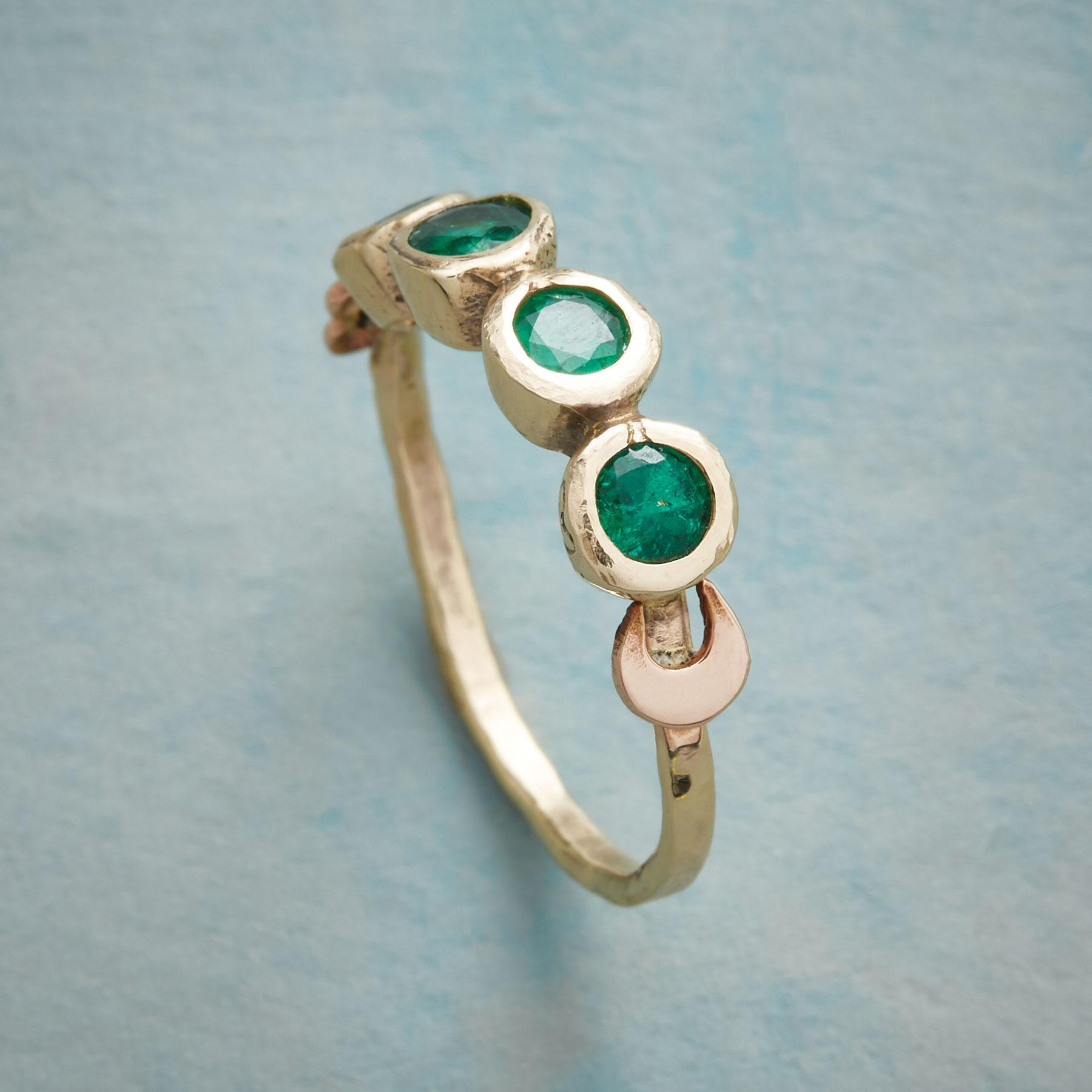 LUCKY EMERALD RING: View 2