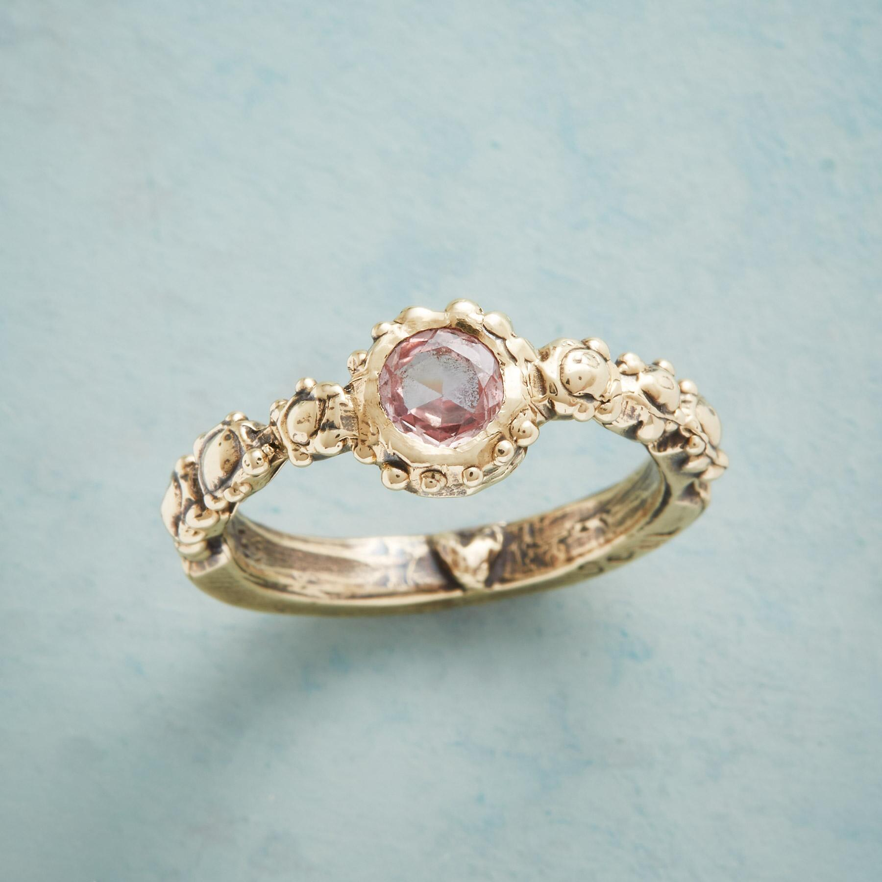 SOULFUL HEART PINK SAPPHIRE RING: View 1