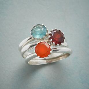 PRONG SET RING TRIO S/3