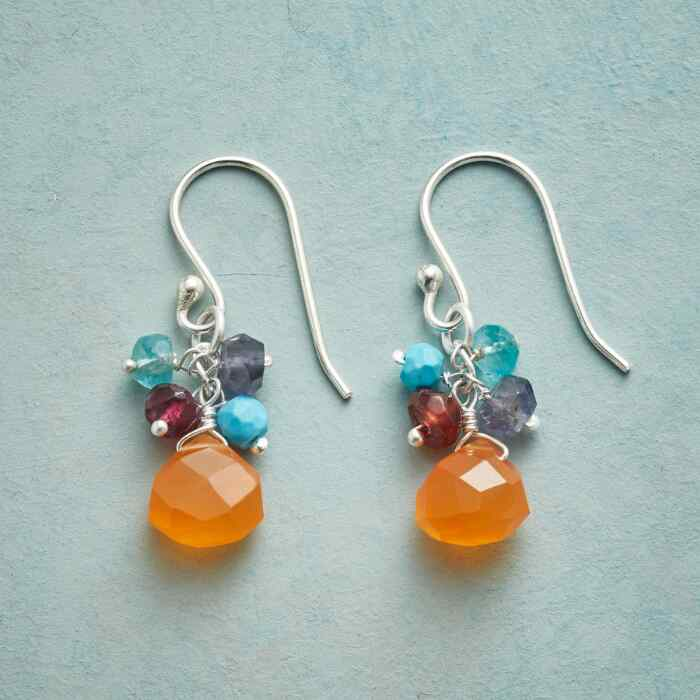 CARNELIAN AMULET EARRINGS