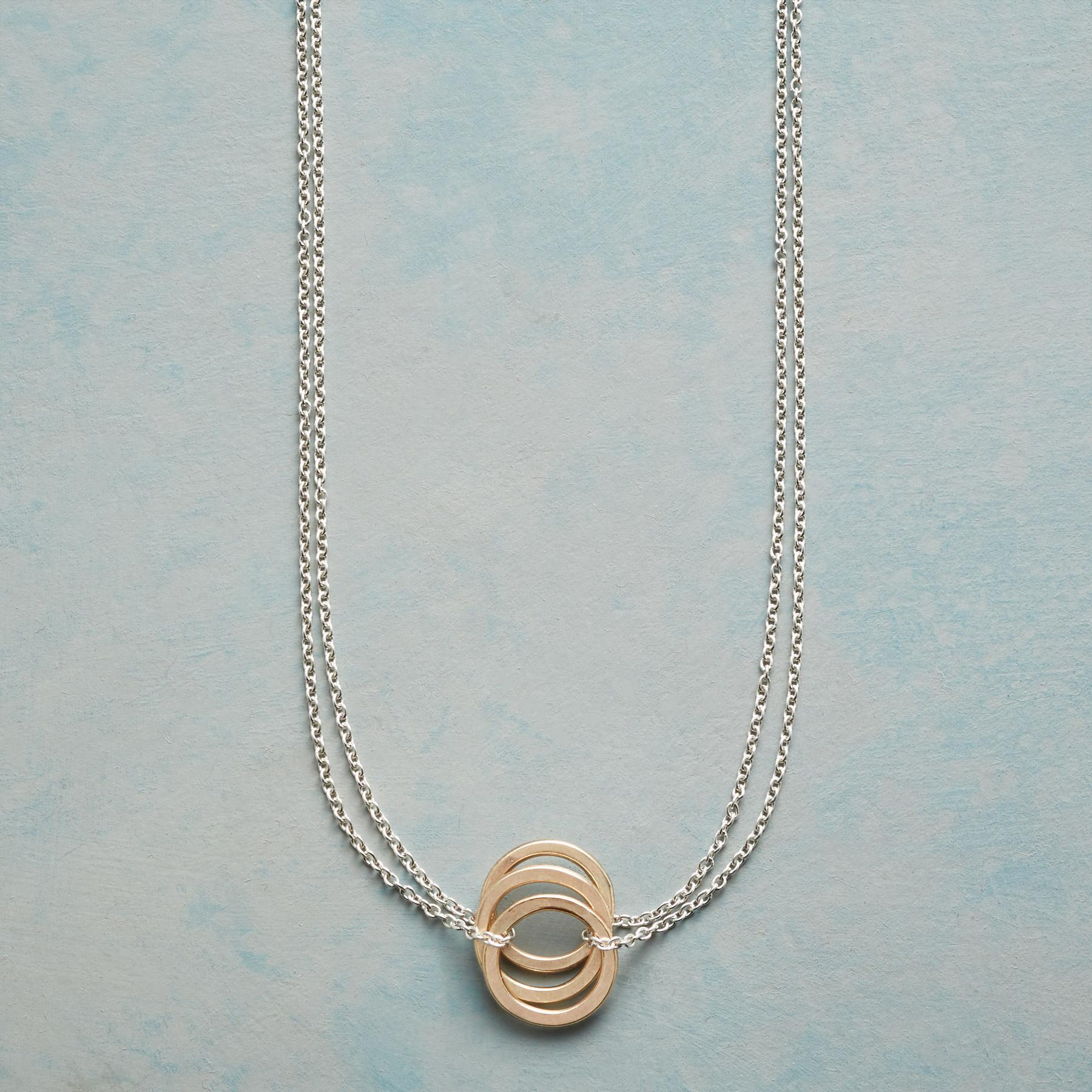 THREE RINGS NECKLACE: View 1