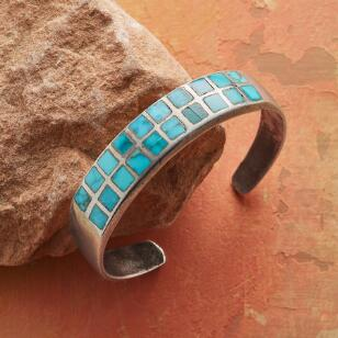 1960S TWO ROW TURQUOISE CUFF