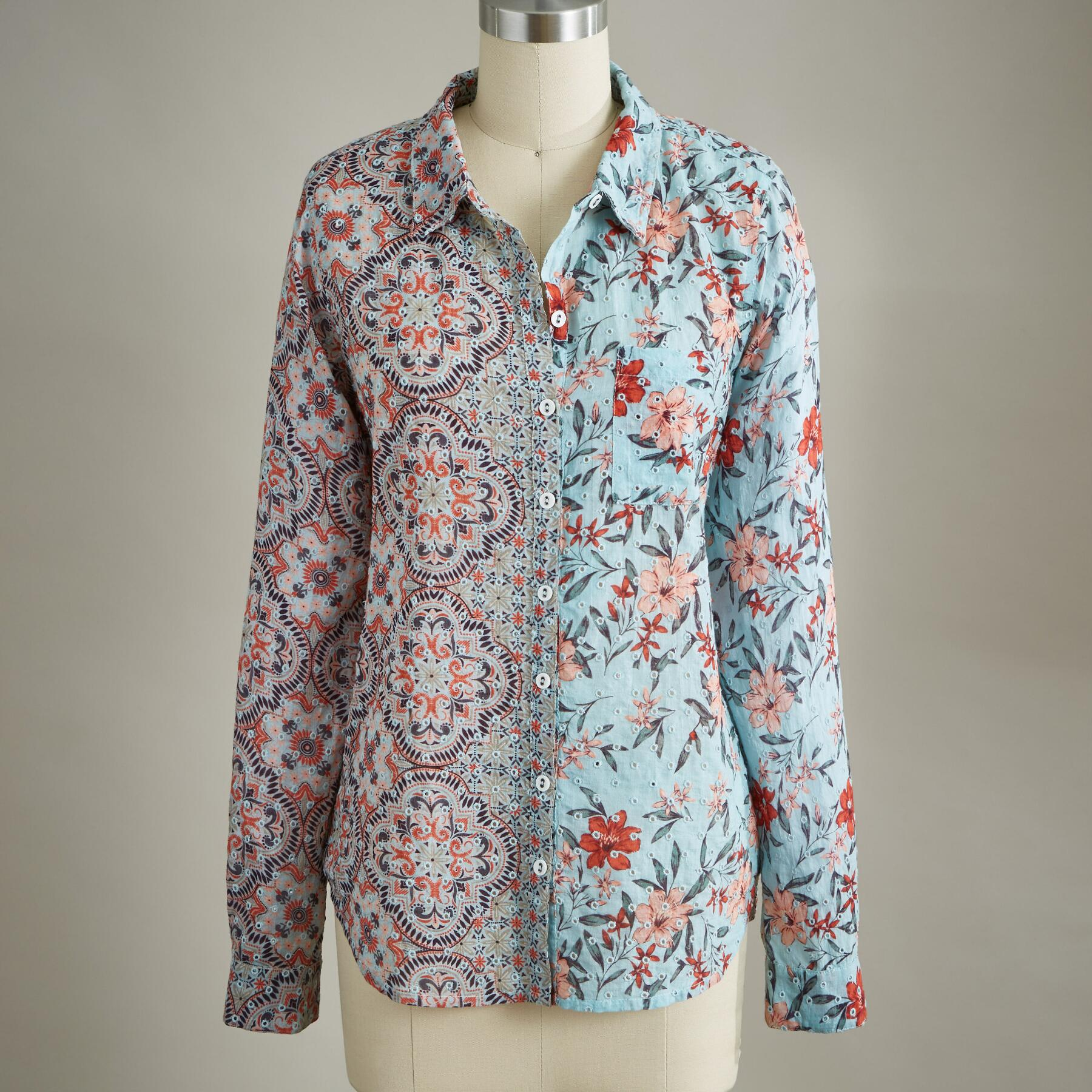 EYELET AND BEYOND SHIRT: View 3