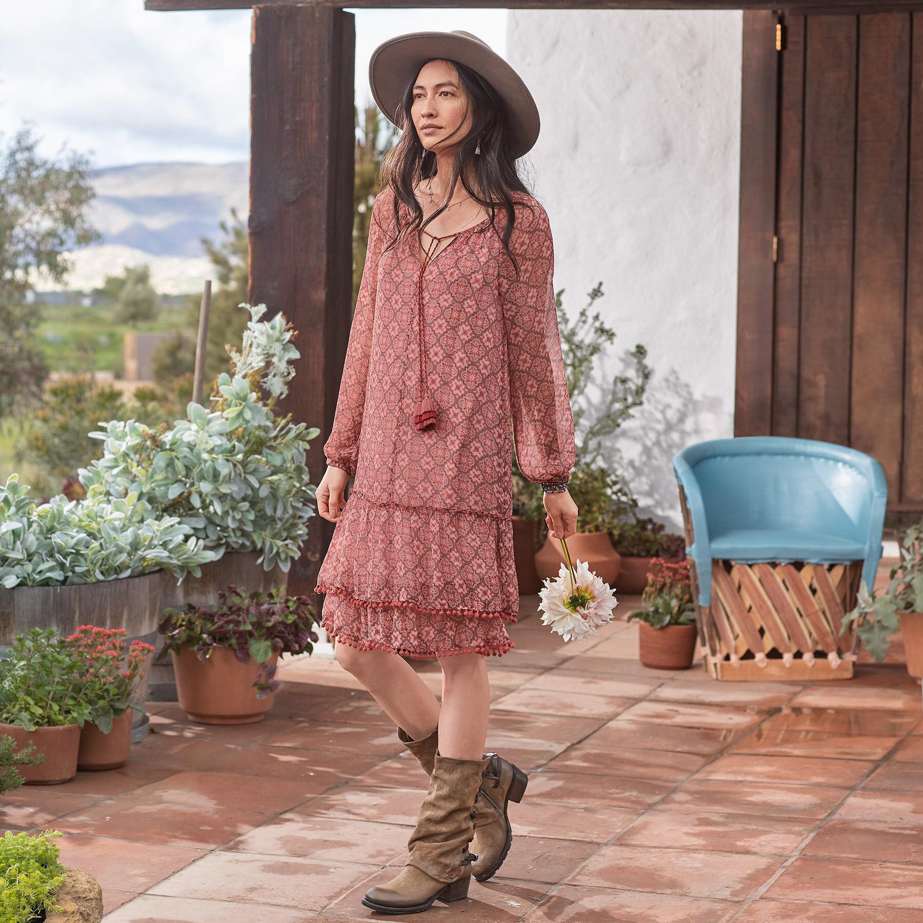MOSAIC BREEZE DRESS PETITE: View 1