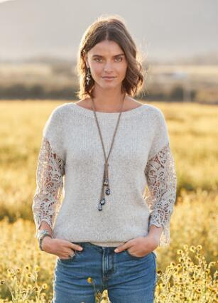 LACE DELIGHT PULLOVER