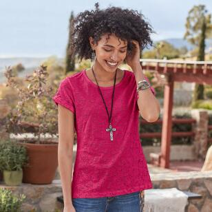 ALL OVER EYELET TEE