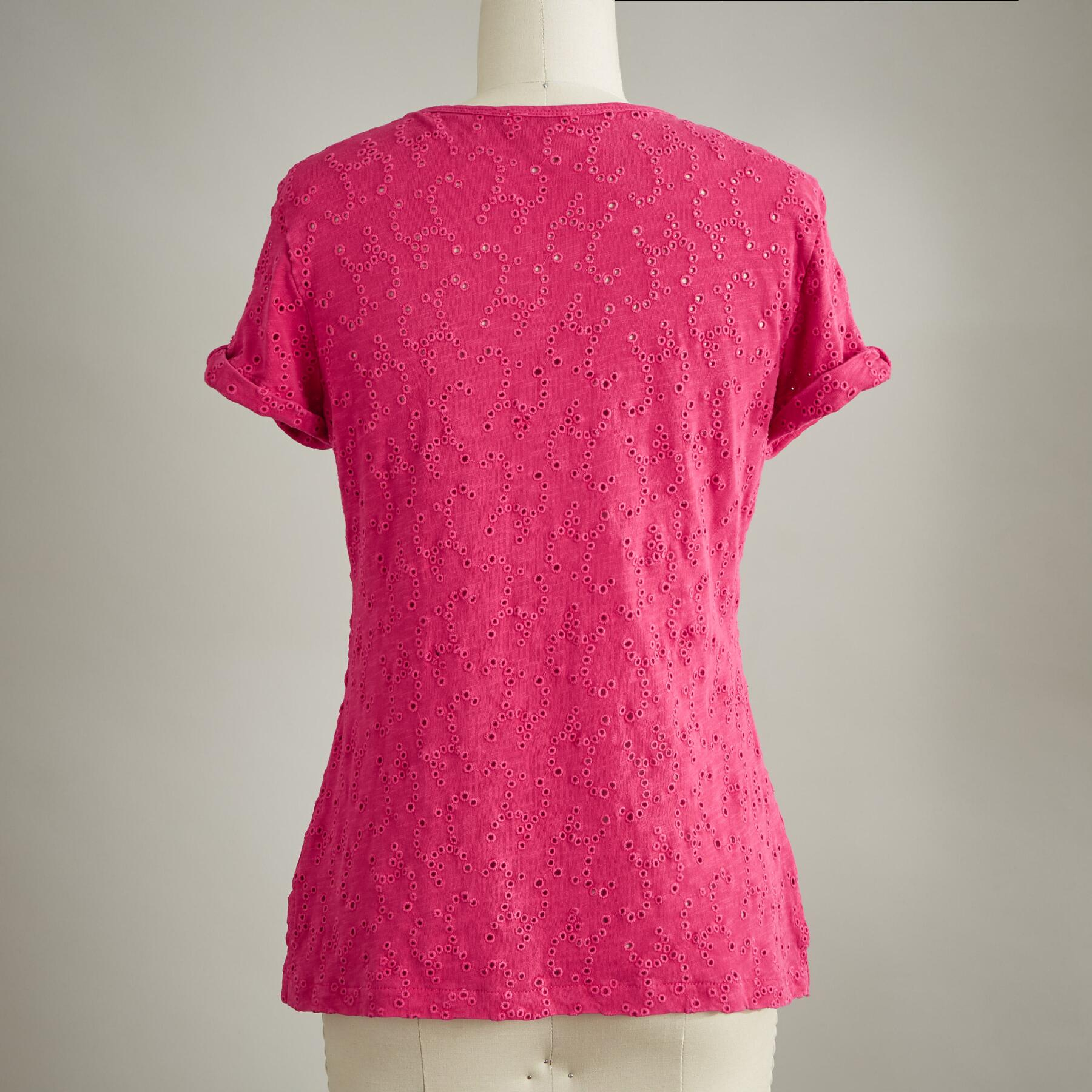ALLOVER EYELET TEE: View 3